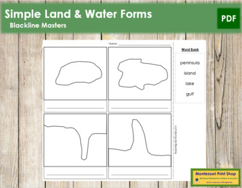 Simple Land and Water Forms: Blackline Masters
