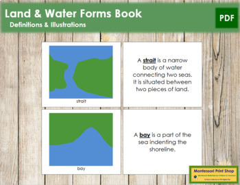 Simple Land and Water Forms: Book