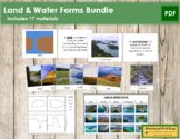 Land and Water Forms Bundle - Montessori