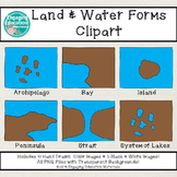 Land and Water Forms Clip Art