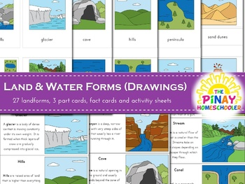 Land and Water Forms Learning Pack