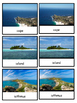 Land and Water Forms Montessori 4-part photo cards