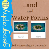 Land and Water Forms Self Correcting 3 Part Cards