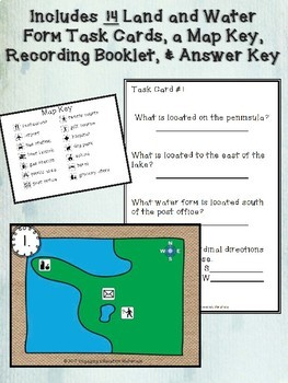 Land and Water Forms Task Cards