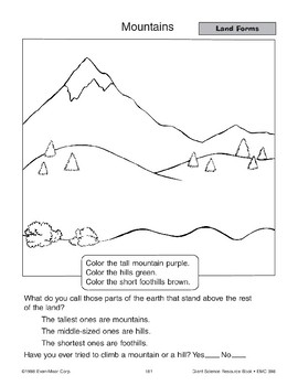 Land and Water Forms: Worksheets and Picture Cards