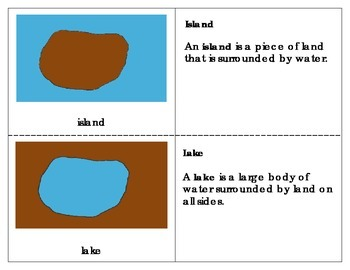 Montessori Land and Water Forms Booklet