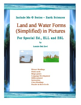 Land and Water Forms (Simplified) in Pictures for Special Ed., and ESL