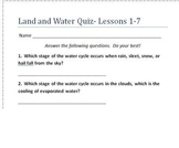 Land and Water Science Quiz