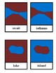 Land and water forms classification cards