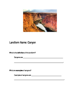 Land-form Book Project