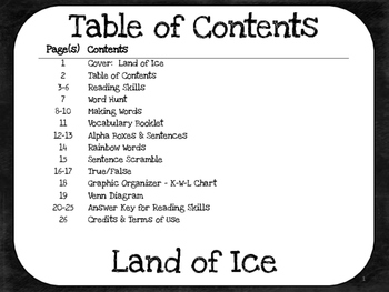 Land of Ice  1st Grade Harcourt Storytown Lesson 11