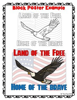 Land of the Free Collaborative Poster!  Team Work - Veteran's Day - Memorial Day