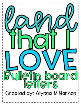Land that I Love Bulletin Board & Door Decoration
