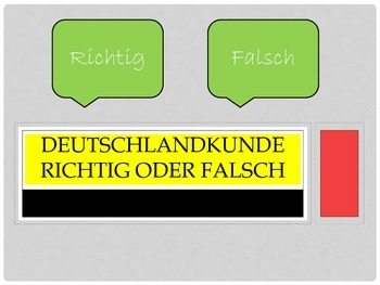 Landeskunde Quiz - General Germany knowledge quiz