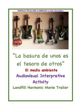 Landfill Harmonic Movie Interpretive Previewing Activity with Trailer
