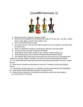 Landfill Harmonic Movie Questions with key