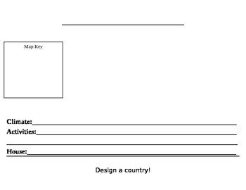 Landform Activity- Design A Country