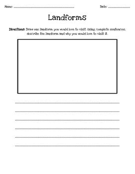 Landform Activity Sheet