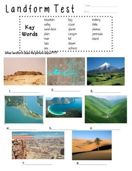 FREEBIE!!! Landform Assessment