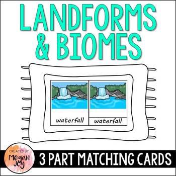 Landforms & Biomes 3 Part Matching Cards