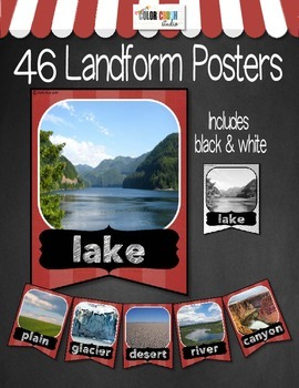 Landform & Bodies Of Water Posters in Color and Black and White