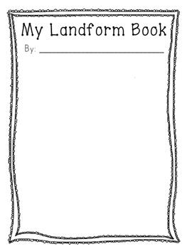 Make Your Own Landform Mini Book