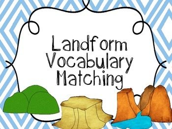 Landforms Vocabulary {Landform Flash Cards, Landform Memory Matching Cards}