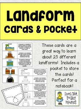 Landform Cards and Pocket - Great for Interactive Notebooks