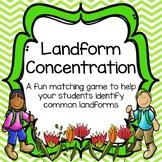 Landform Concentration Matching Game