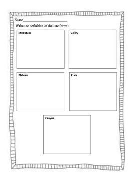 Landform Draw and Define
