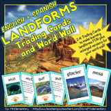 Landforms Trading Card Activities and Word Wall Posters