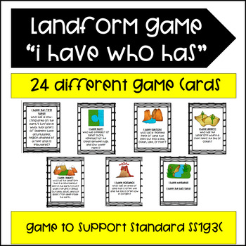 Landform Game- I Have Who Has