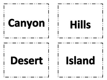 Landform Game - I Have, Who Has and Memory