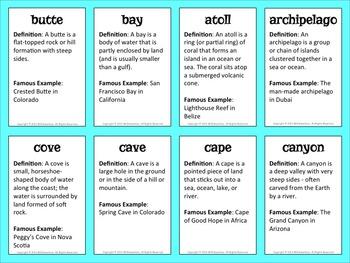 Landform Trading Cards