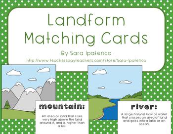Landform Matching Activity Cards