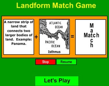 Landform Matching Game _ Bill Burton
