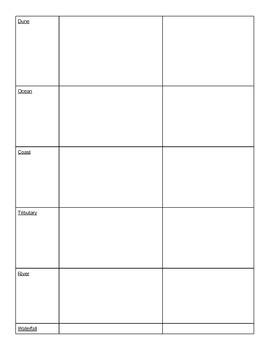 Landform Matching Quiz