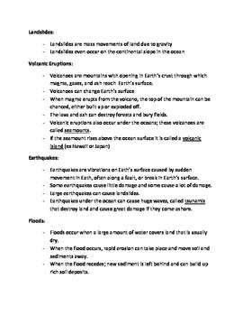 Landform Notes
