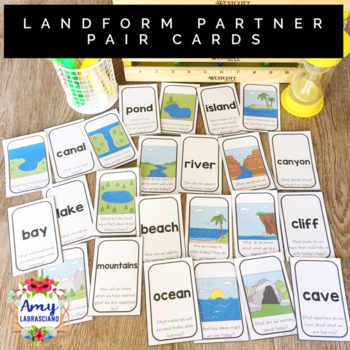 Landform Partner Pairing Cards with Engagement Questions