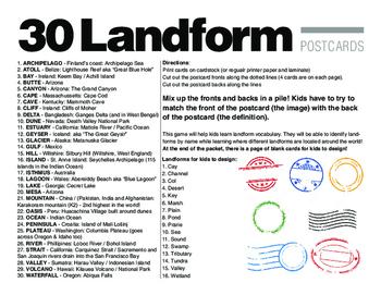 Landform Postcards Game