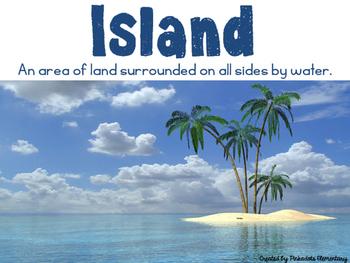 Landform Posters Nonfiction Realistic Pictures w/ student friendly definitions!