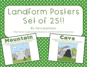 Landform Posters - Set of 25!!