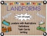 Landform Posters and Task Cards in English and Spanish Bundle