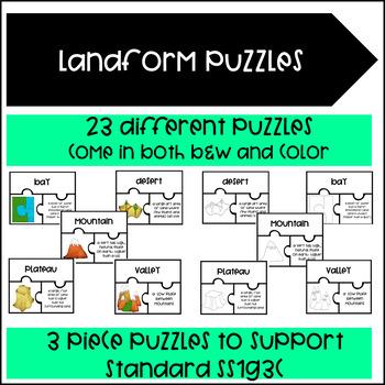 Landform Puzzles