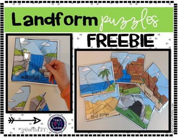 Landform Puzzles FREEBIE