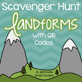 Landform QR Code Scavenger Hunt [Color and B/W]