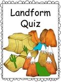 Landform Quiz