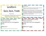 Landform Quiz Quiz Trade Game/Center