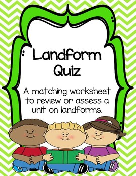 Landform Quiz/Worksheet/Homework