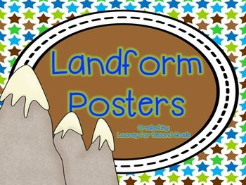 Landform Reference Posters